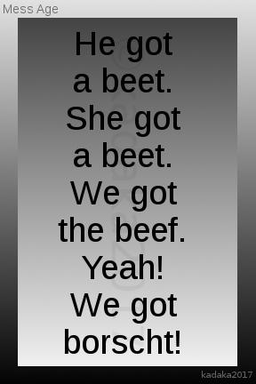 Just beet it